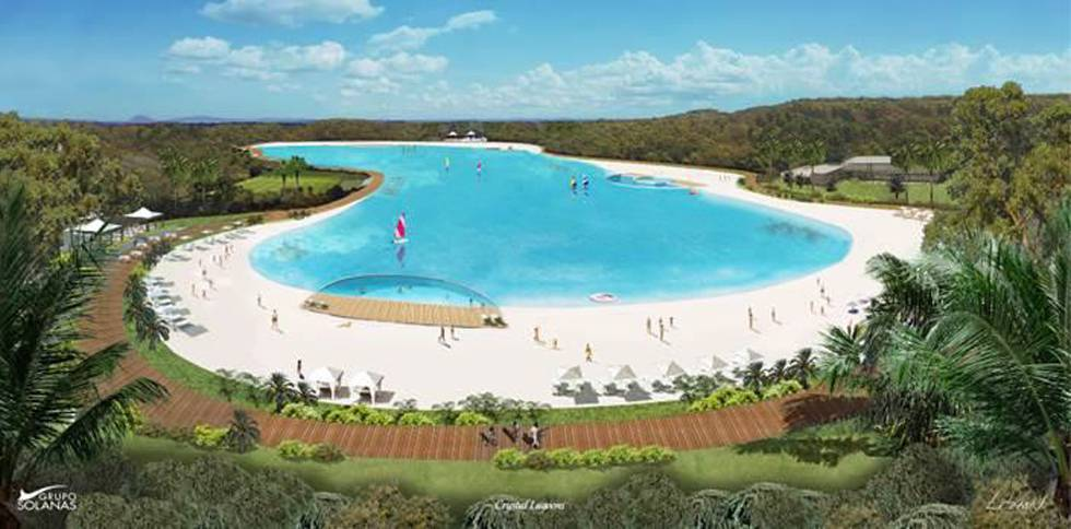 Rendition of the proposed beach and lagoon.