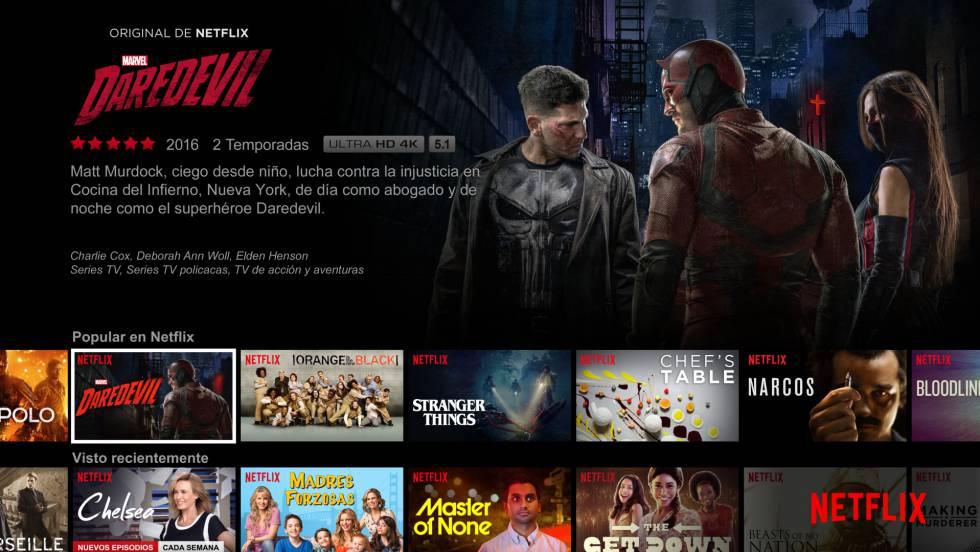 Parrilla de series de Netflix España.