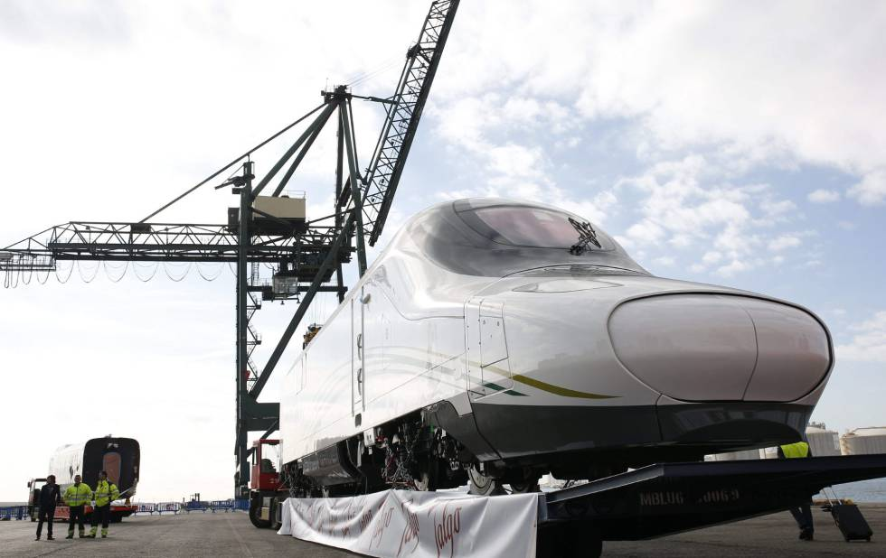 The high-speed train that will cover the Mecca–Medina route.