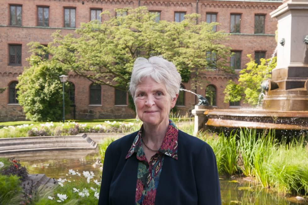 La profesora y experta en educación Inger Enkvist en la Universidad de Lund.