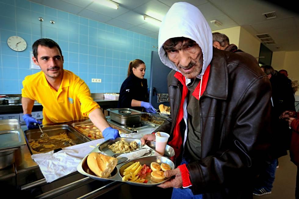 Centro para personas sin hogar del Ayuntamiento de Madrid.