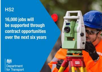 HS2 señala que el proyecto generará 16.000 empleos.