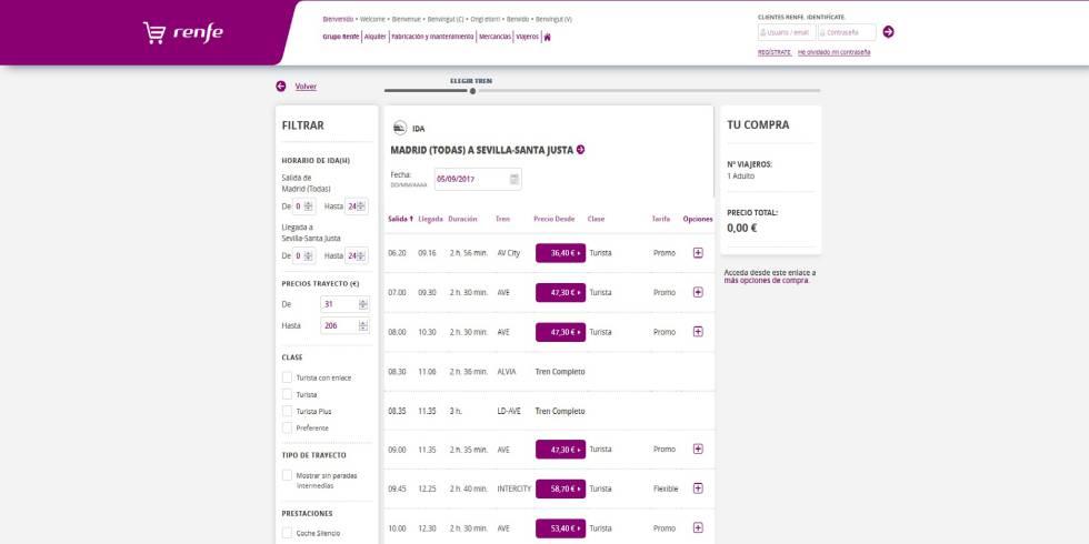 Trucos para intentar conseguir billetes a 25 euros de la oferta de Renfe