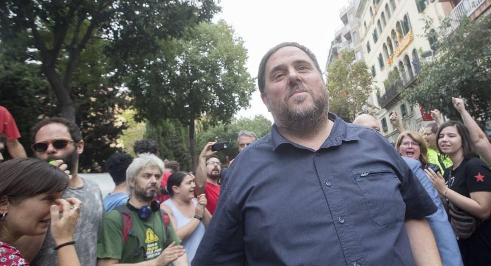 El vicepresidente del Govern, Oriol Junqueras, ayer en Barcelona