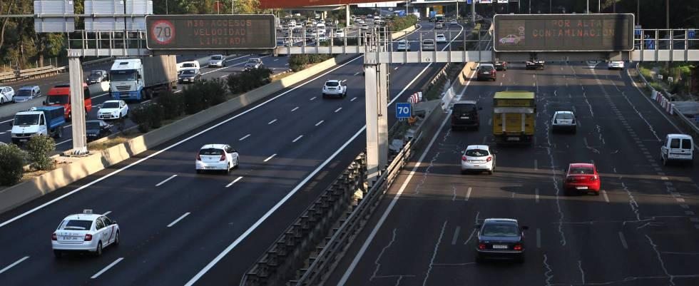 Restriccion de velocidad en Madrid por contaminacion.