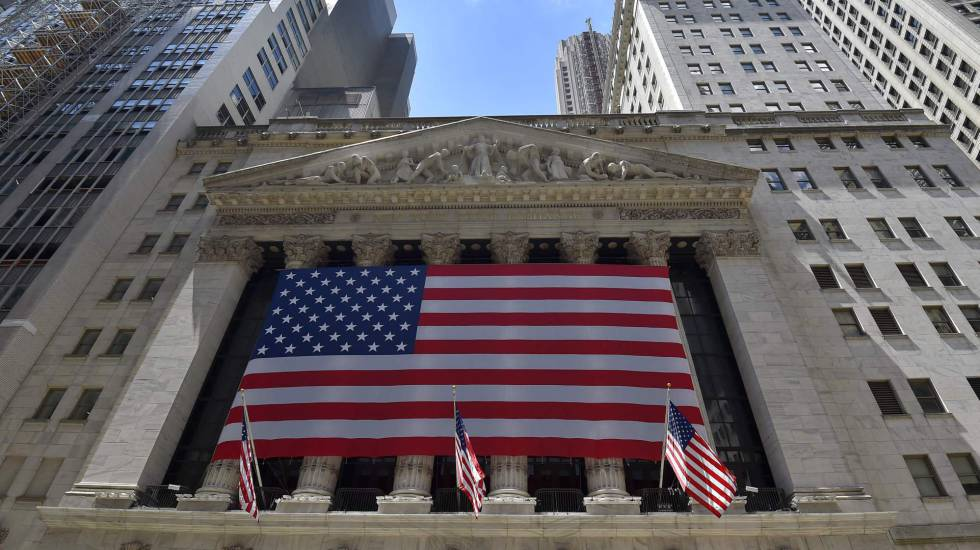 Sede del New York Stock Exchange, el parqué de Wall Street