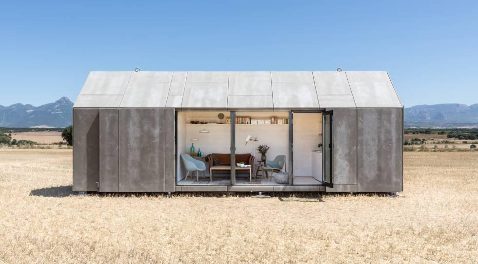 Arriba, minicasa de 27 metros cuadrados diseñada por la firma Ábaton Arquitectura.