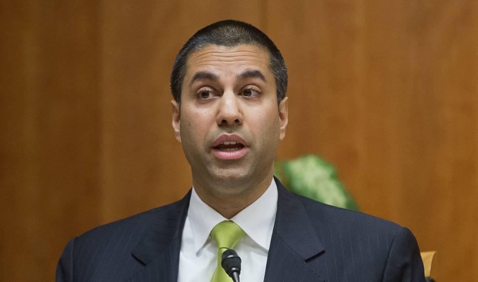 El presidente de la Comisión Federal de Comunicaciones, Ajit Pai, el pasado febrero