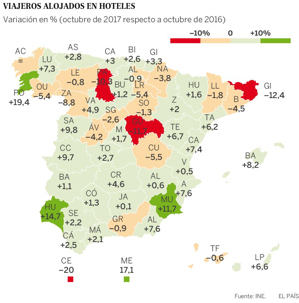 Los hoteles de Cataluña pierden clientes, noches contratadas y bajan precios