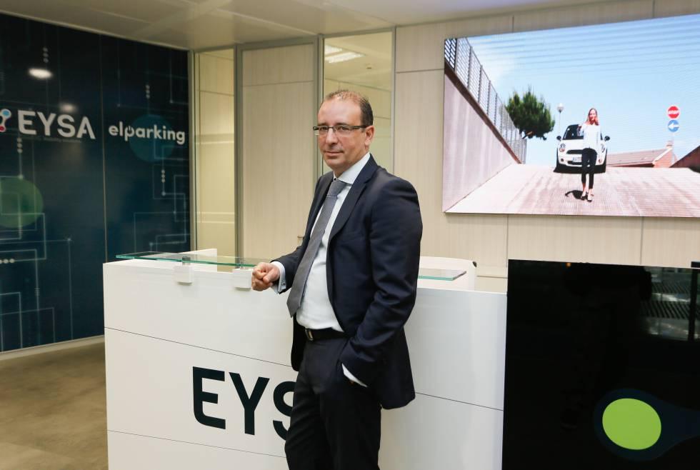 Javier Delgado, consejero delegado de Eysa, en las oficinas de la compañía en Madrid