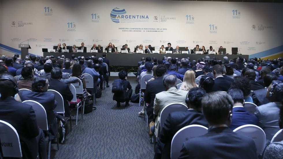 Ministros y altos cargos de 164 países cierran la cumbre de la Organización Mundial de Comercio en Buenos Aires.