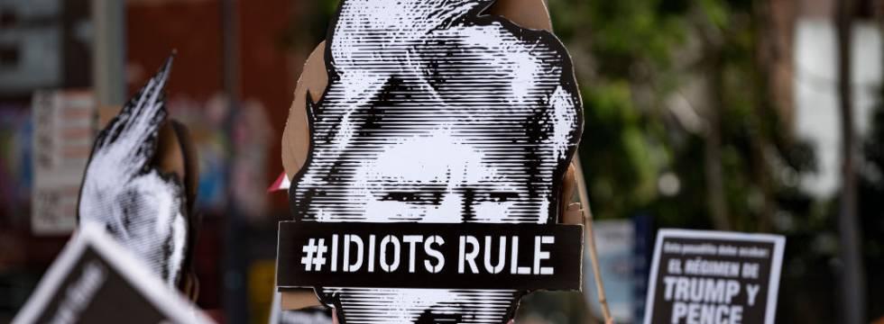 Manifestación contra Donald Trump en EE UU