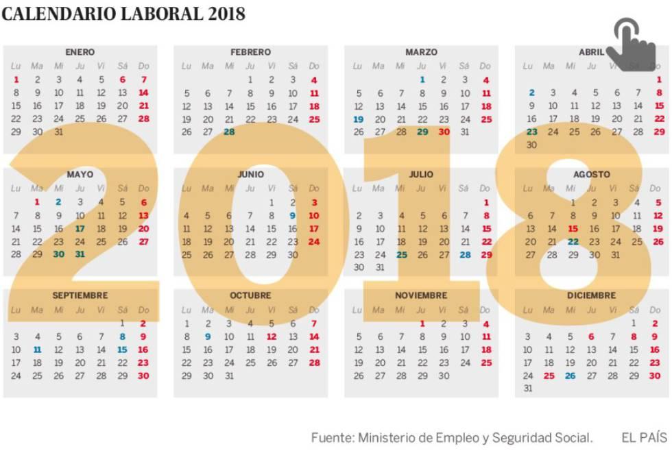 Abre Mi Calendario.El Calendario Laboral De 2018 Permite Cuatro Puentes