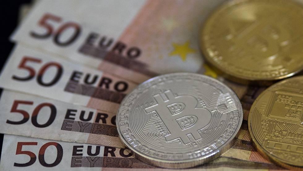 Imagen de monedas de bitcoin.