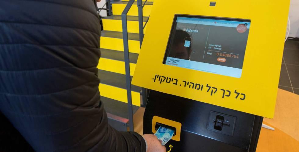 Cajero de bitcoins en Tel Aviv, Israel, el 17 de enero.