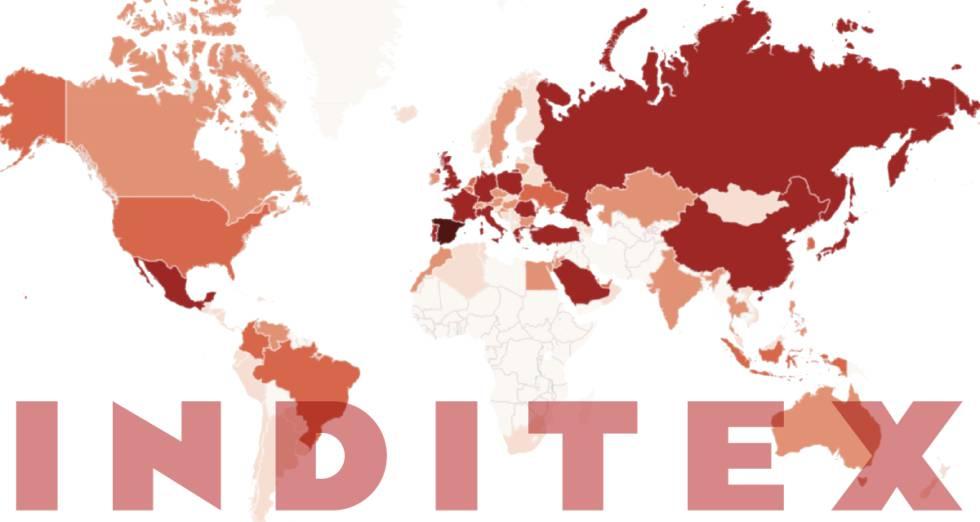 GRÁFICO. Las 7.475 tiendas de Inditex en el mundo