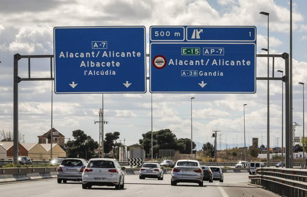 El Gobierno se replantea el fin de los peajes en la autopista entre Alicante y Tarragona