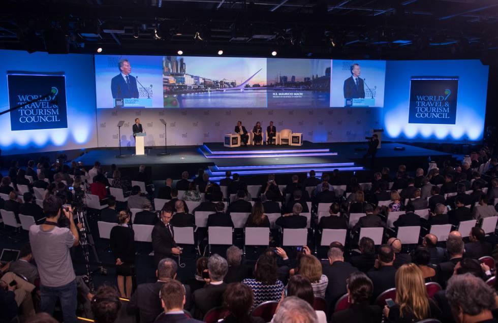 El presidente Mauricio Macri abre en Buenos Aires la 18° Cumbre Mundial del WTTC.