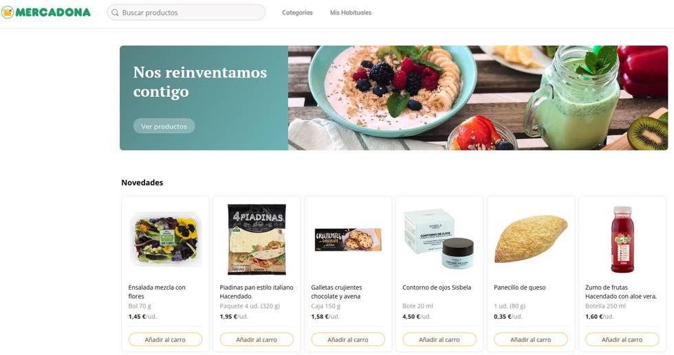 """a0815f80a08 Así es la nueva web de Mercadona, que usará Valencia como """"laboratorio"""""""