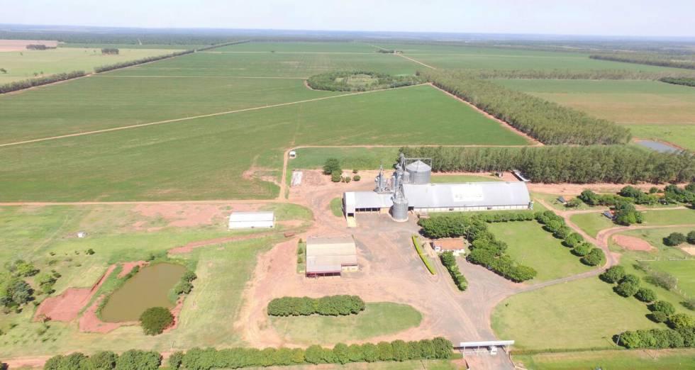 Planta de transformación de soja de la empresa.