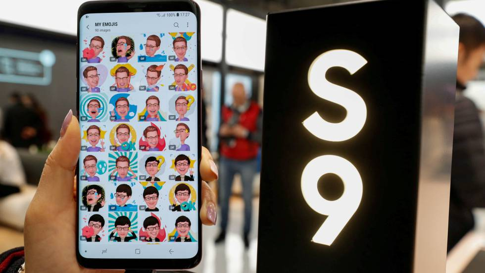 Un dispositivo Samsung en el Mobile World Congress de Barcelona.