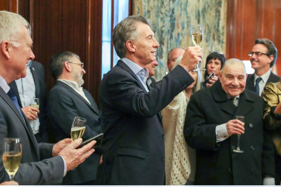 O presidente Mauricio Macri comemora o Dia do Jornalista nesta quinta-feira com a imprensa credenciada na Casa Rosada