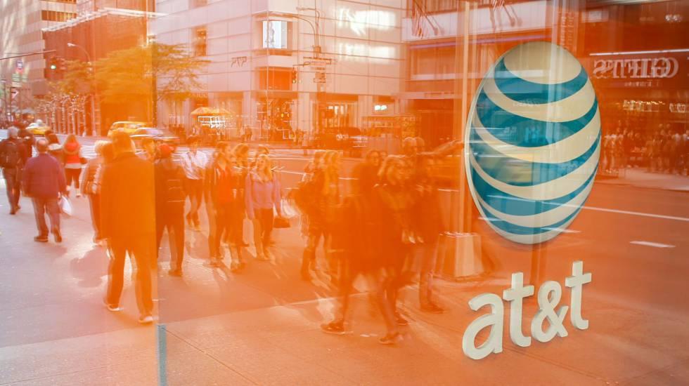 Una tienda del operador de móvil AT&T en Nueva York