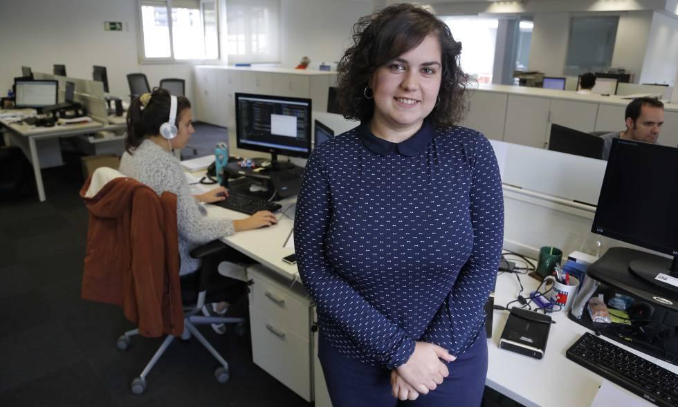 Rocío Romero, estudiante de FP Dual en Bergara.
