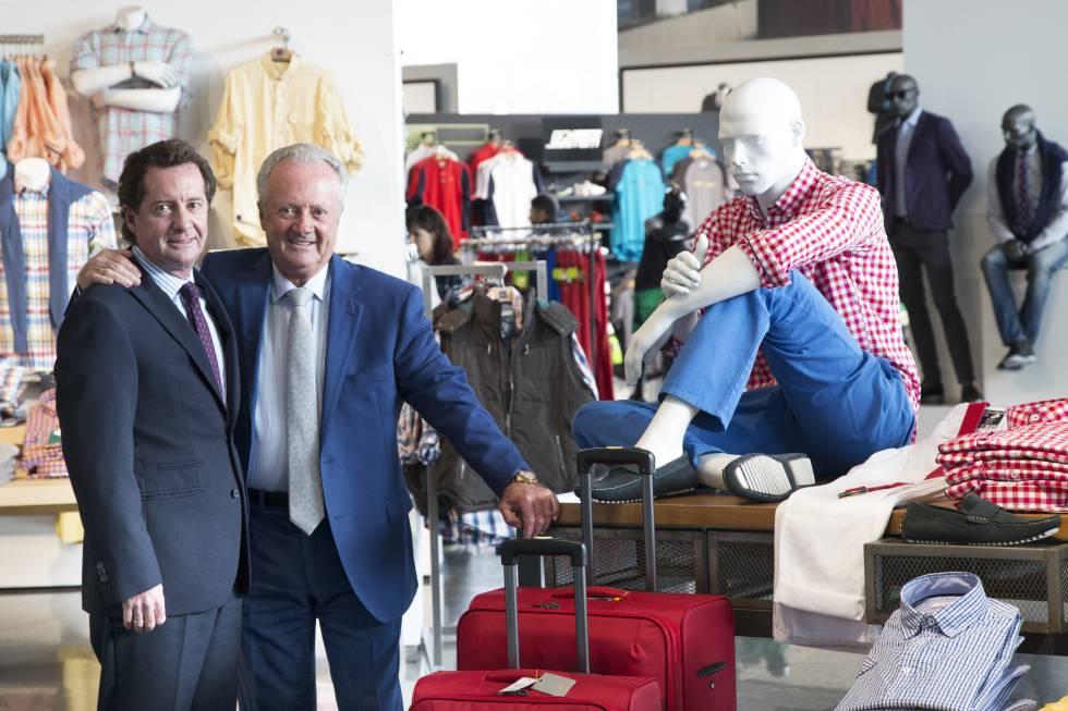 El empresario colombiano Arturo Calle junto a su hijo Carlos Arturo Calle