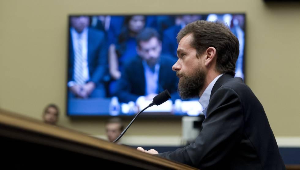 Jack Dorsey, en su comparecencia ante el comité del Senado, el 5 de septiembre.rn