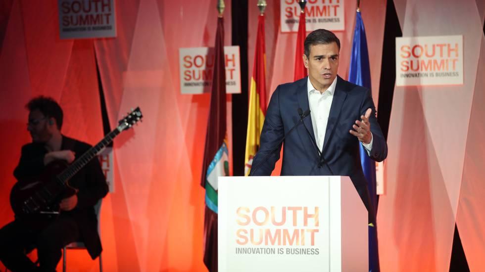 Resultado de imagen de south summit pedro sanchez