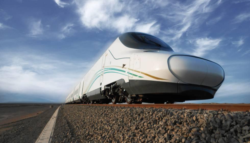 Un tren Talgo que cubre la línea Medina-La Meca.