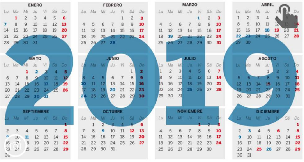 Calendario Loteria Nacional 2020.El Calendario Laboral De 2019 Ya Es Oficial Solo Permite Un Gran
