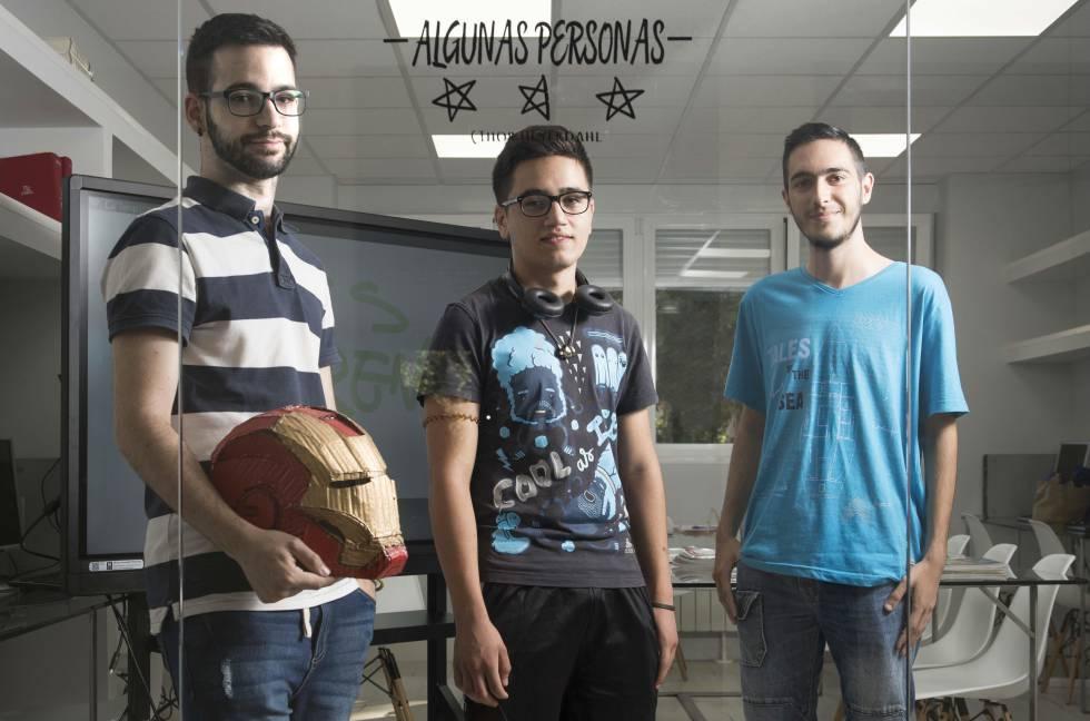 Mauro de Miguel, Alexander Soleto y Javier Oropesa, alumnos emprendedores de FP.
