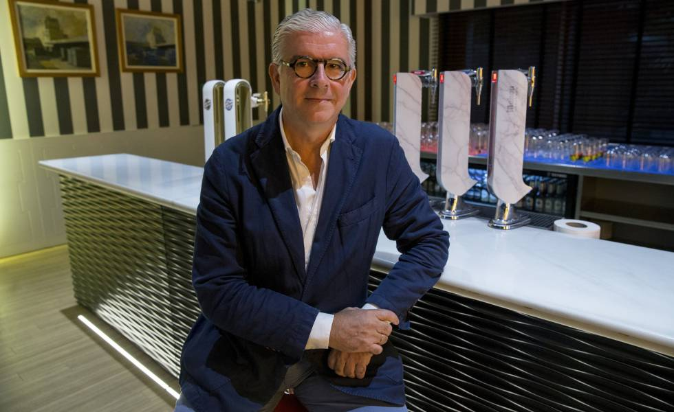 El director general de Mahou San Miguel, Alberto Rodríguez-Toquero, en la sede de la empresa.