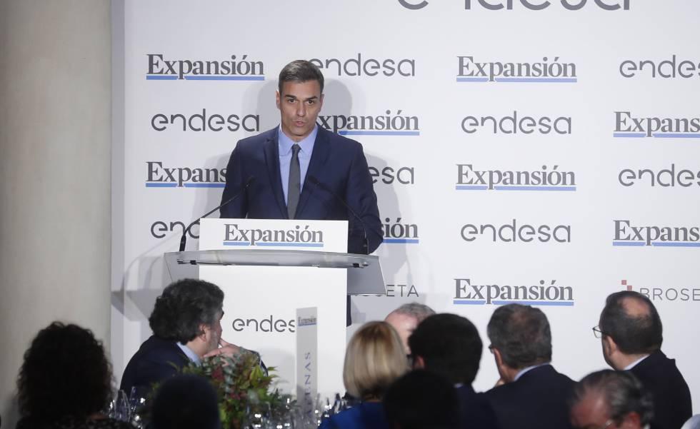 El presidente del Gobierno, Pedro Sánchez, en un evento organizado por Expansión.