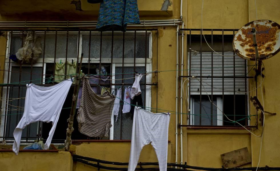 Vivienda en el barrio del Príncipe Alfonso, en Ceuta, considerada una de las más pobres de España.