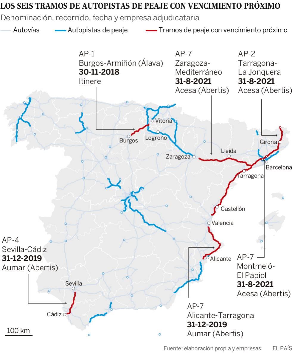 Adiós a los peajes en la autopista AP-1 entre Burgos y Armiñón: esta noche queda liberada del pago 1543576888_347789_1543580124_sumario_normal