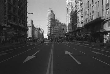 La Gran Vía de Madrid vacía durante la huelga general del 14-D es una de los iconos de la jornada