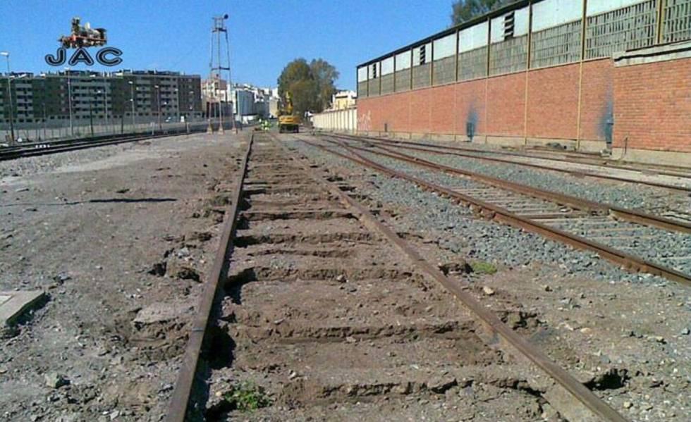 Obras en la estación de Águilas, en Murcia.