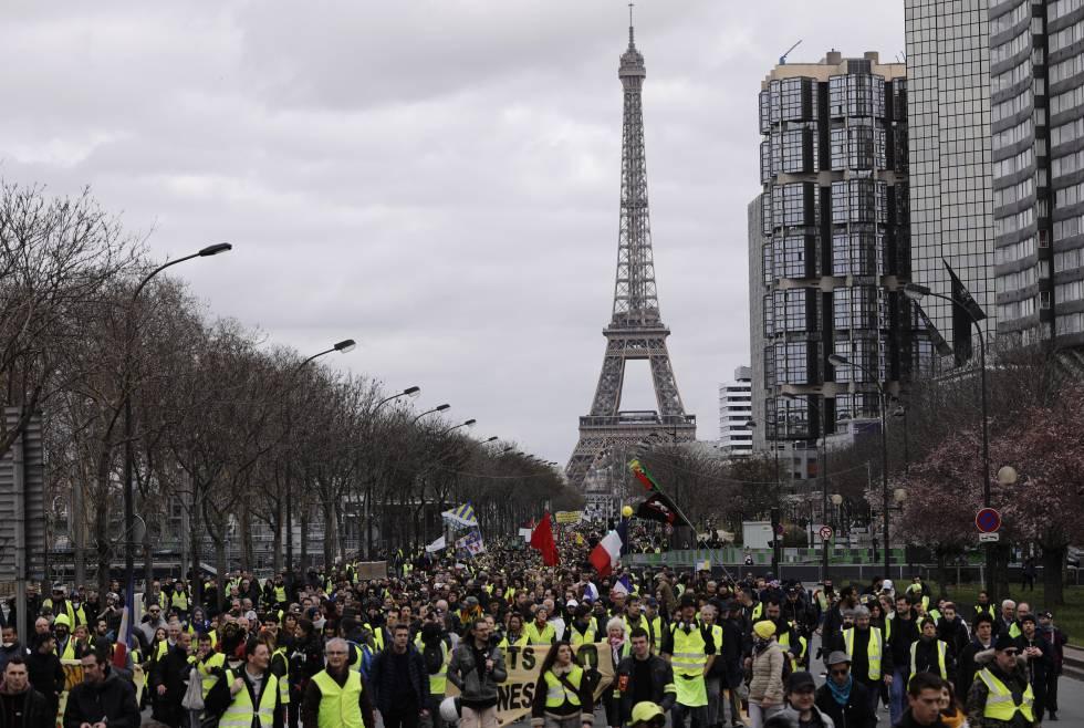Protestas de los chalecos amarillos en París durante el pasado fin de semana