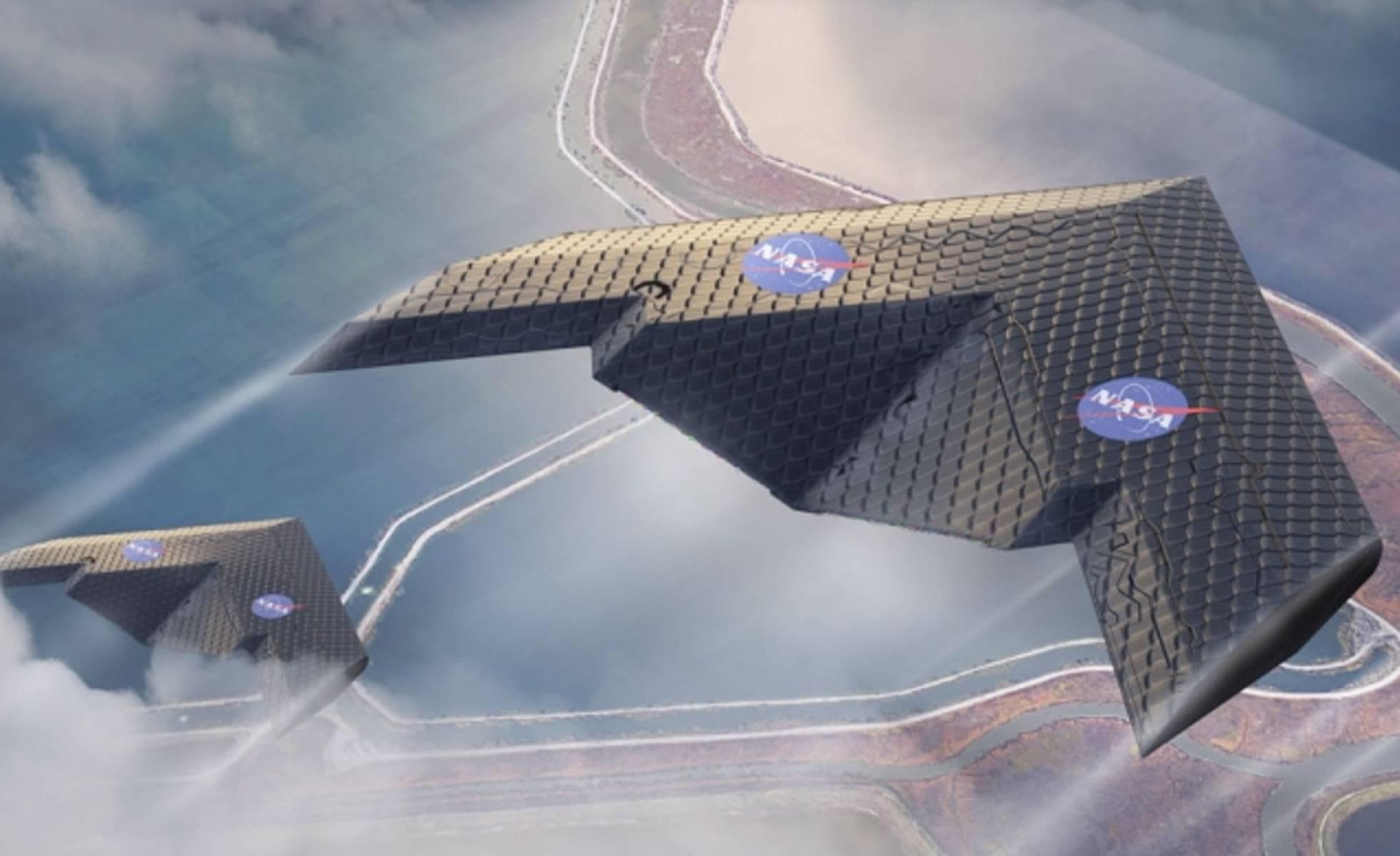 Prototipo del nuevo ala deformable de la NASA.