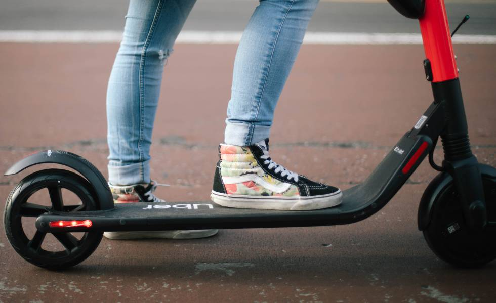 Un patinete de Jump de Uber.