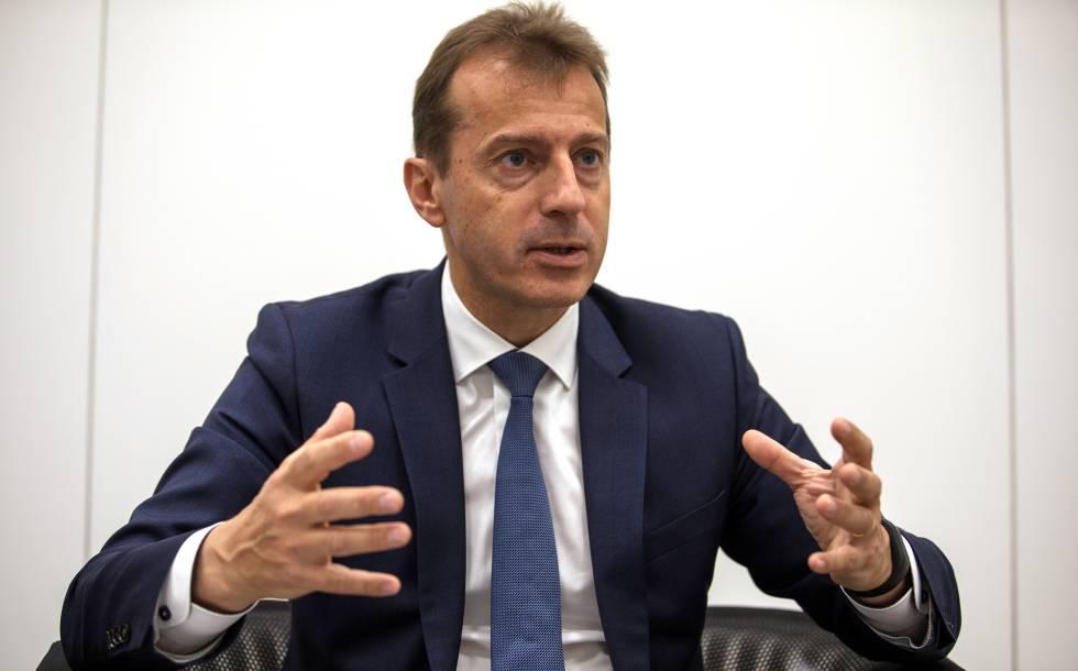 Guillaume Faury, durante un momento de la entrevista con EL PAÍS.