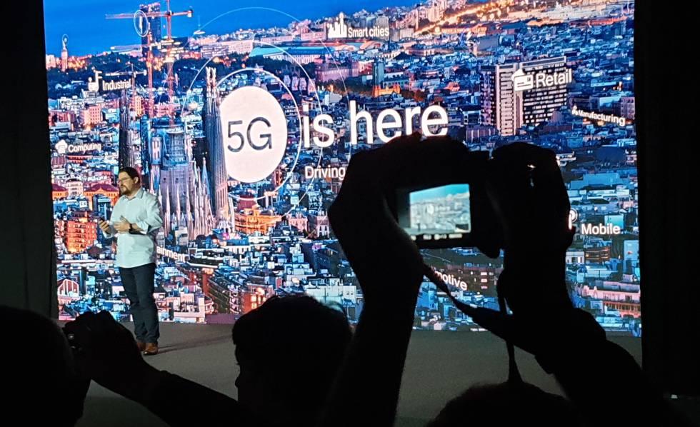 Presentación de Qualcomm del 5G.