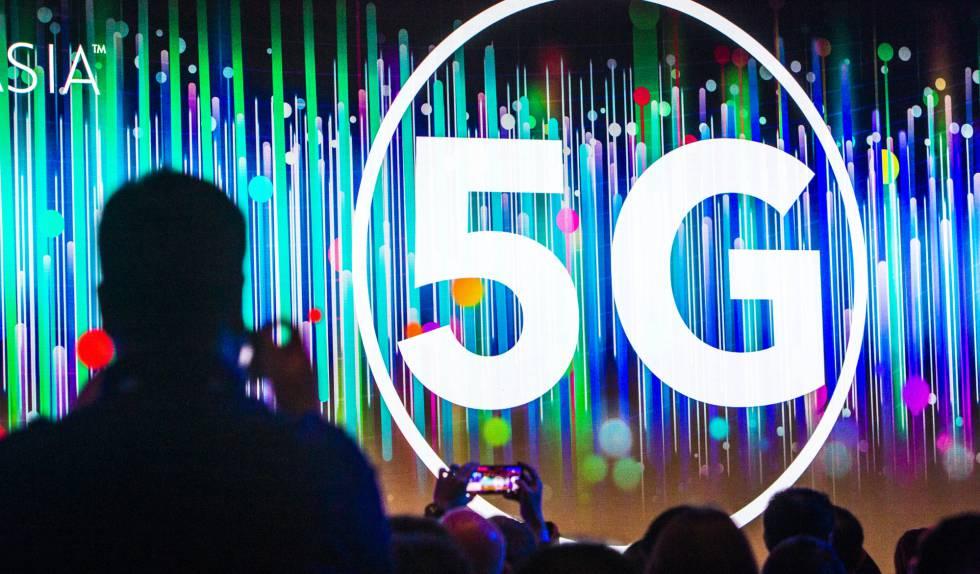 Conferencia sobre 5G en la feria Consumer Electronics Show (CES) de Shangai.