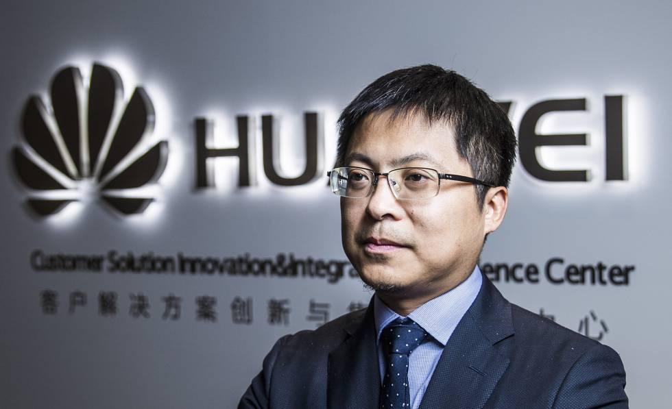 Tony Jin Yong, CEO de Huawei Espana, en la sede de la compania en Madrid.