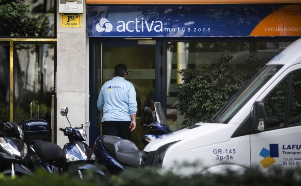 Una oficina de Activa Mutua en Barcelona.