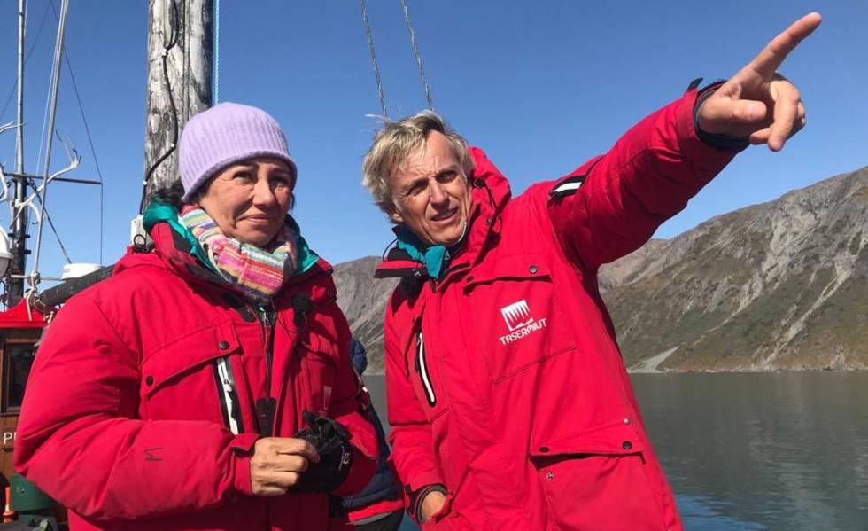 Ana Botín y Jesús Calleja, en una de las fotos publicadas por la presidenta del Santander.