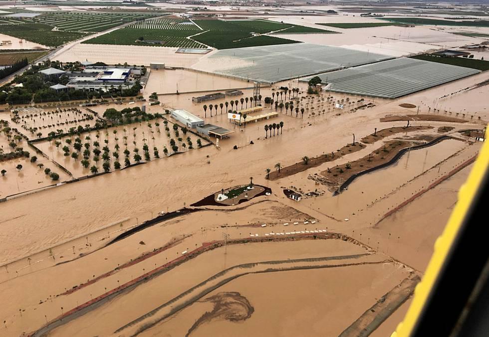 Vista aérea de la localidad murciana de Los Alcázares el pasado 13 de septiembre